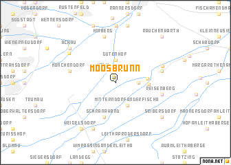 map of Moosbrunn