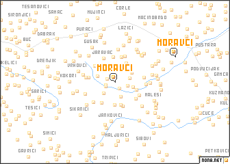 map of Moravci