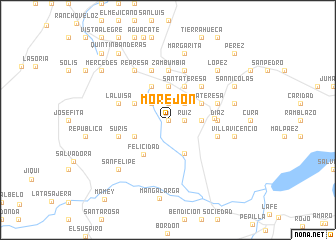 map of Morejón