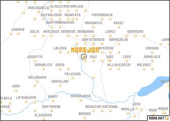 map of Morejón