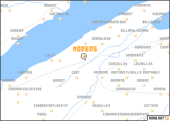 map of Morens