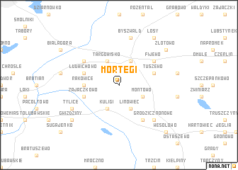 map of Mortęgi