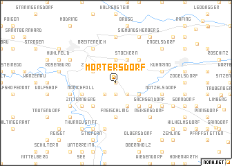map of Mörtersdorf