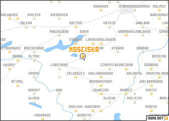 map of Mościska