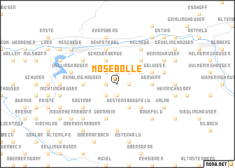 map of Mosebolle