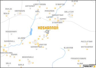 map of Moshannon