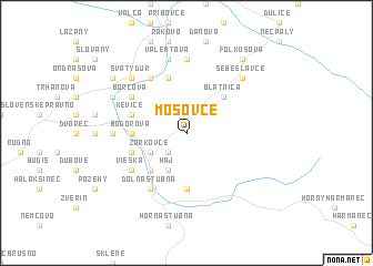 map of Mošovce
