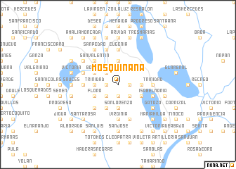 map of Mosquiñana