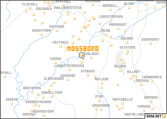 map of Mossboro