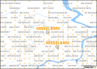 map of Mosselbank