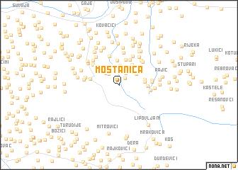 map of Moštanica