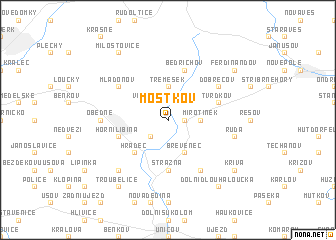 map of Mostkov