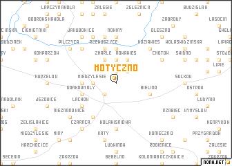 map of Motyczno