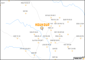 map of Mouhour