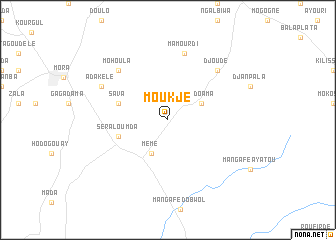 map of Moukjé