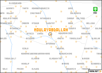 map of Moulay Abdallah