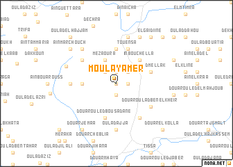 map of Moulay Amer