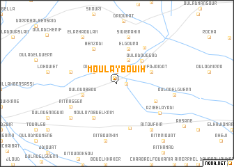 map of Moulay Bouih
