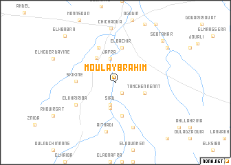 map of Moulay Brahim