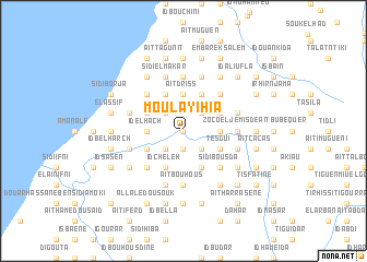 map of Moulay Ihia