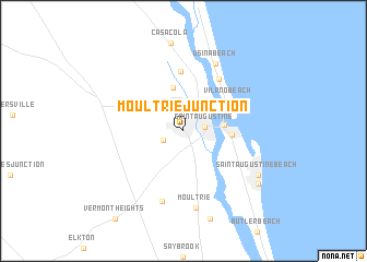 map of Moultrie Junction