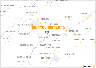 map of Mount Cumberland