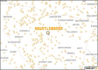 map of Mount Lebanon