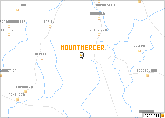 map of Mount Mercer