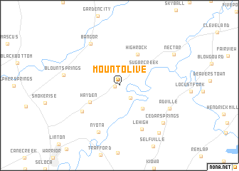 map of Mount Olive