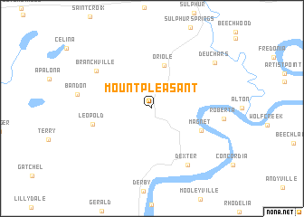 map of Mount Pleasant