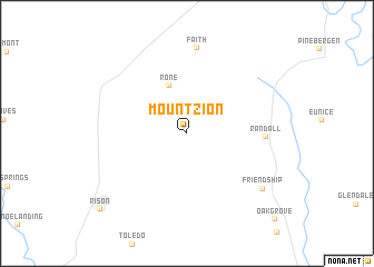 map of Mount Zion
