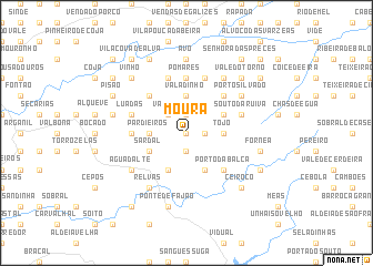 map of Moura