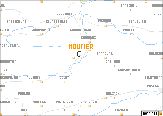 map of Moutier