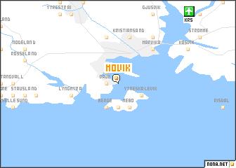 map of Møvik