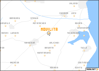 map of Moviliţa