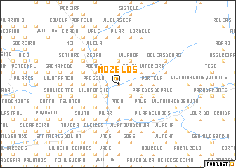 map of Mozelos
