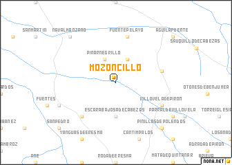 map of Mozoncillo