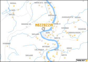 map of Mozzozzin