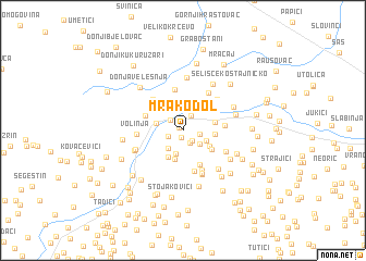map of Mrakodol