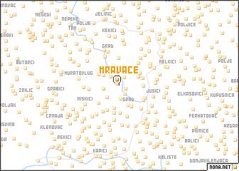 map of Mravače