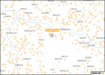 map of Mrđani