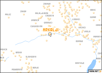map of Mrkalji