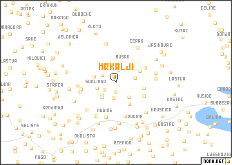 map of Mrkalji