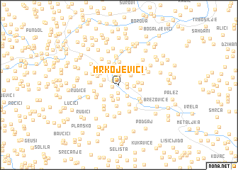 map of Mrkojevići