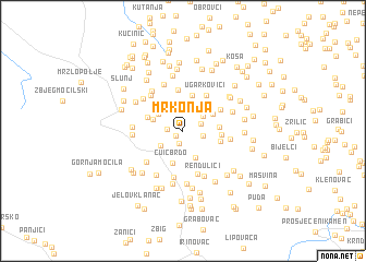 map of Mrkonja