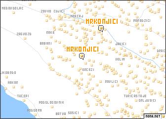 map of Mrkonjići