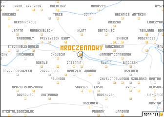 map of Mroczeń Nowy