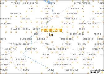 map of Mrowiczna