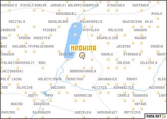map of Mrowina
