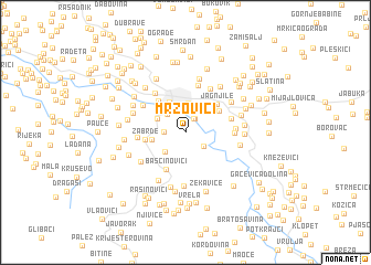 map of Mrzovići